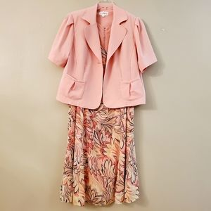Studio I Two Piece Lt. Peach Dress/Jacket Size 20W